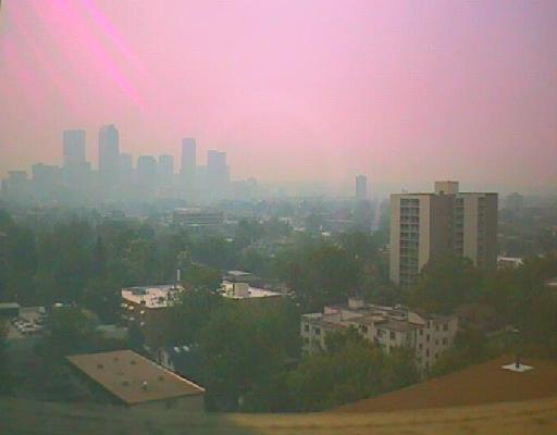 Smoggy Day in Denver - photo credit CDPHE