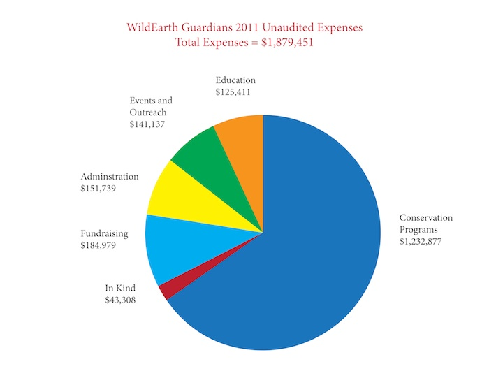 2011 Unaudited Expenses Pie Chart r2