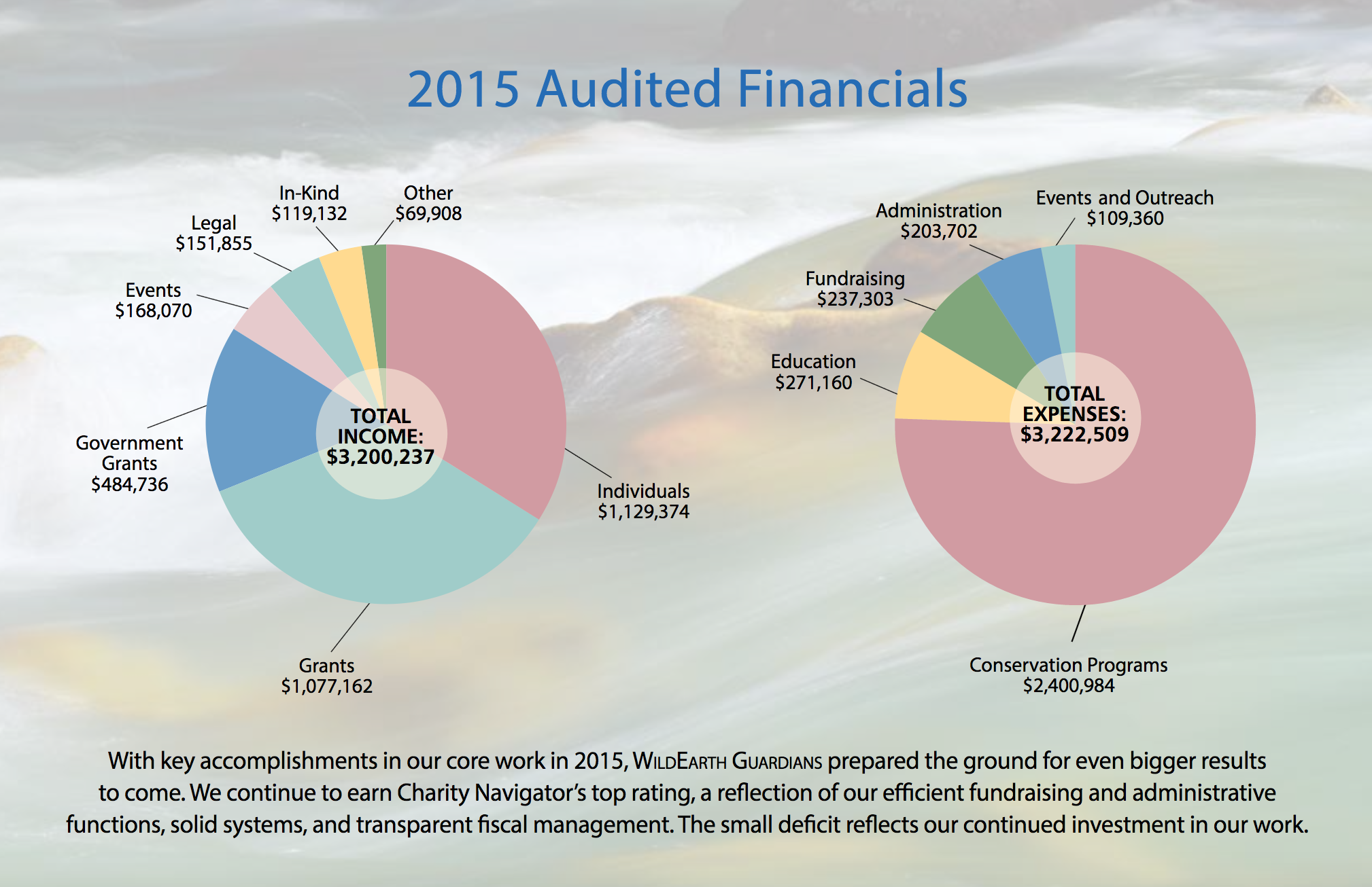 2015 Audited Financial Chart