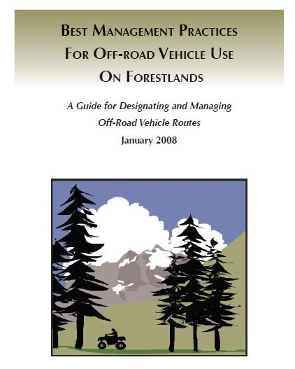 Best Management Practices for ORV cover