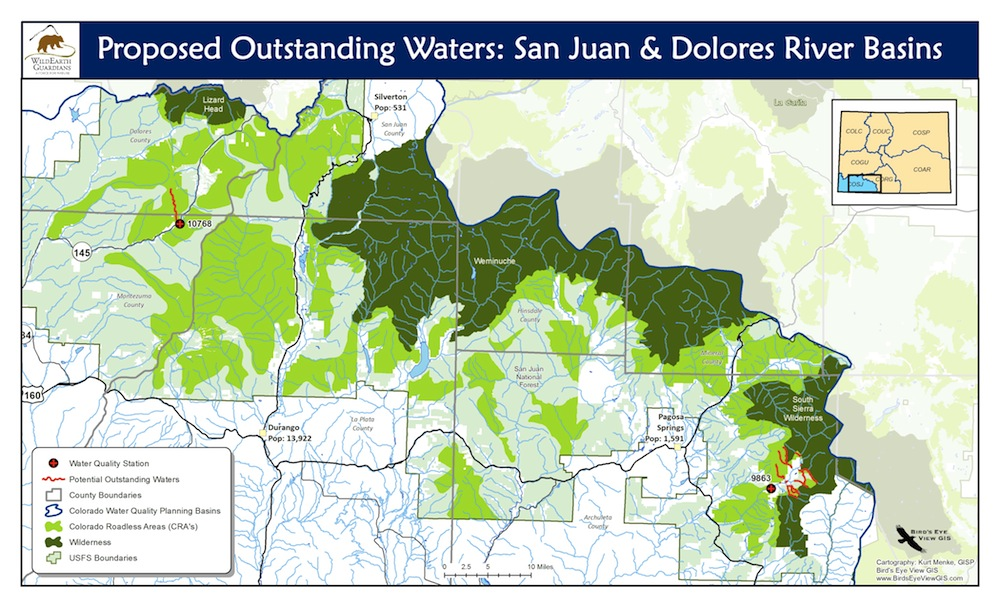Map of San Juan Dolores Basin