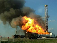 Nabors Rig and Fire