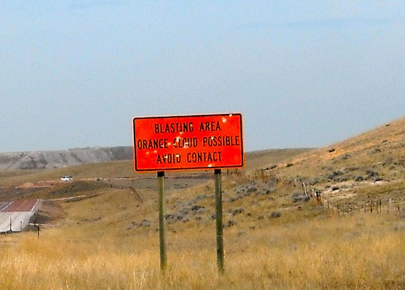 Power River Basin Blast Sign