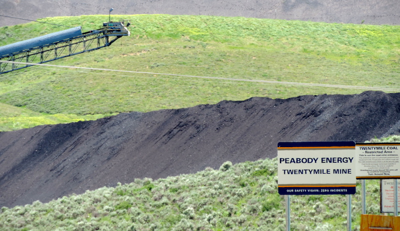 peabody coal mining sign and operation