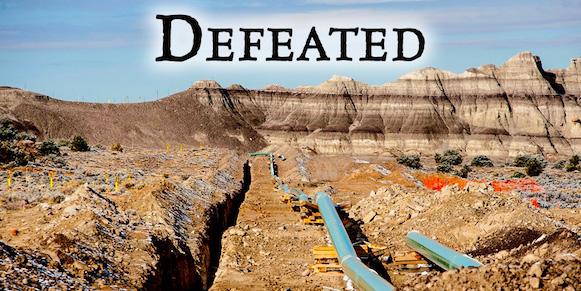 Pinon Pipeline Halted
