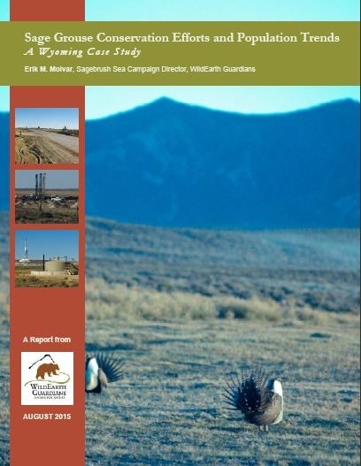 Sage grouse report cover August 2015