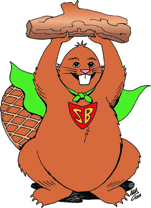 Super Beaver Cartoon Image Small