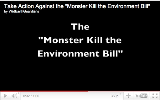 The Monster Kill the Environment Bill You Tube Image