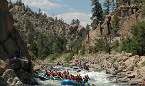 Brown's Canyon rafting pc Colorado State Parks