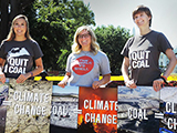 Climate Protester Group Ladies - Thumbnail